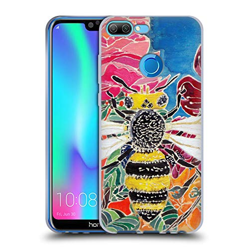 Official Lauren Moss Oh Honey Bee Flowers Soft Gel Case for Huawei Honor 9N (9i)