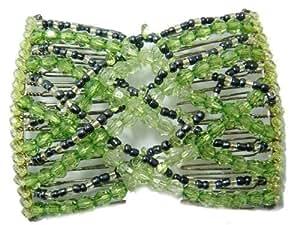 V- SOL Peine Peineta Horquilla Verde Abalorios Perlas Bling Mágico Sueva Accesorio Para Mujer Dama
