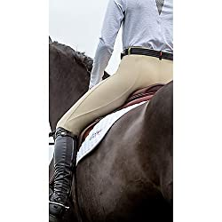 Kerrits Microcord Breech Kneepatch Silver Size: Large