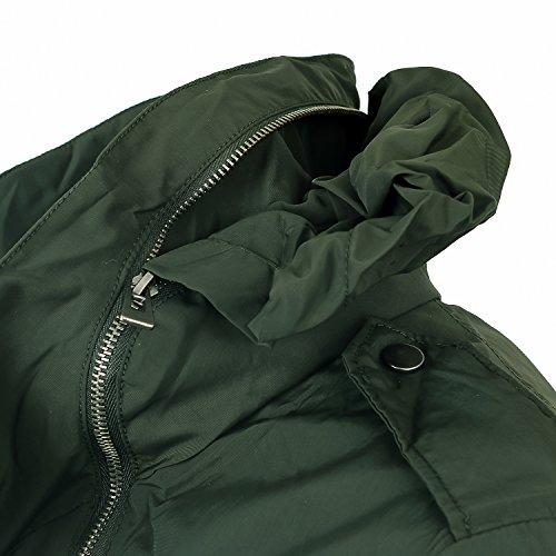 Ililily Tactical Men Olive Jacket Field Green Windbreaker hood Hidden Big Pockets Casual RRrBqpw
