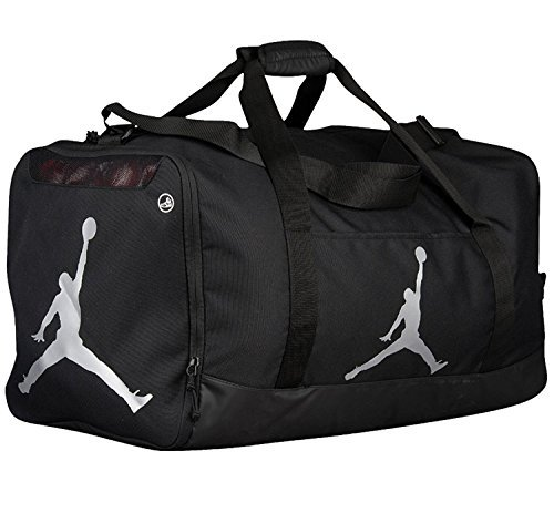 - Nike Air Jordan Jumpman Duffel Sports Gym Bag Black/Silver 8A1913-023 Wet/Dry Shoe Pocket Water Resistant