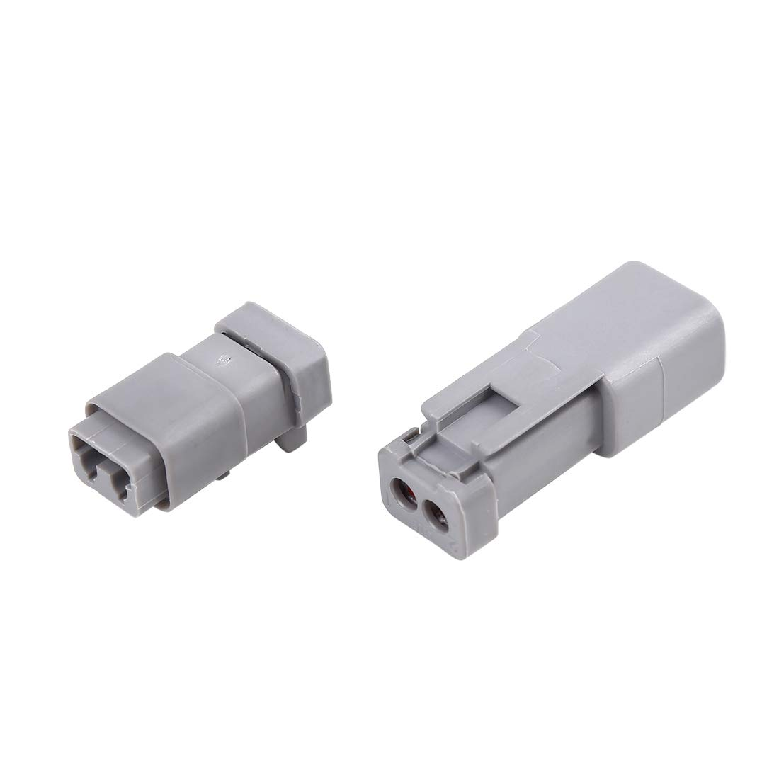 X AUTOHAUX 2 Pins Way Car Waterproof Connector Terminal DT04-2P DT06-2S Set
