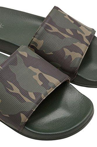 next Herren Slider-Sandale mit Print Khaki