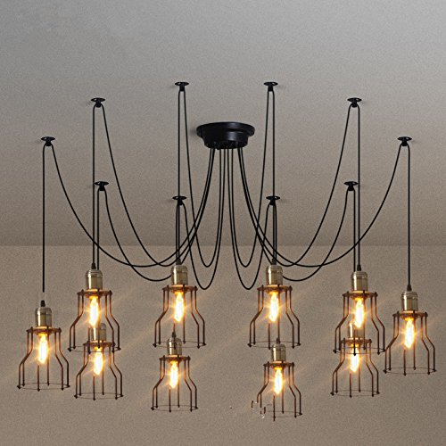 8Pack Edison Light Bulb Vintage Incandescent Chandelier Light Bulbs 60W 110-130V Bent Flame Tip Light Bulb with Candelabra Base (E12) Home Light Fixtures Decorative, Dimmable Warm White Spiral Filame by lingruiyi83 (Image #5)