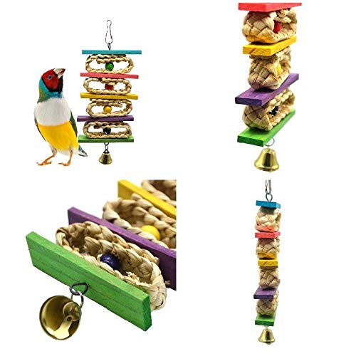 Jewelry - Corn Leaf Wooden Steel Hanging Toys Parrots Bird Squirrel Funny Chain Toy Bites Climb Chew 2019ing - Plastic Rolls Rings Swing Items Mirror Swings Parrot Tent Paper Noisemakers Shoes