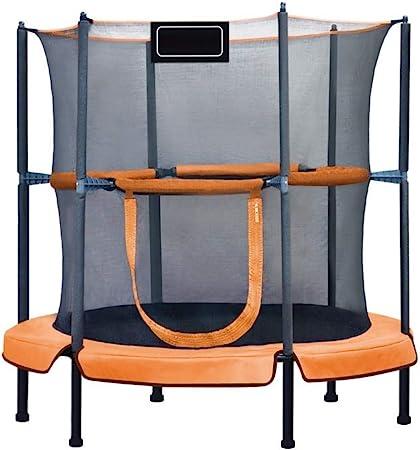 LSYOA Interior/Exterior Cama elástica Infantil, Trampolín Fitness con Mango Recinto Trampolín de Jardín para jardín y Uso doméstico, Carga 150 kg,Yellow_48in: Amazon.es: Hogar