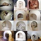pidan Studio Snow House Igloo Cat Litter Box, Red