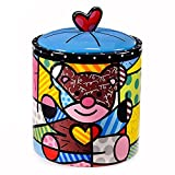 Romero Britto Teddy Bear Cookie Jar/Canister