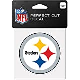 "NFL Pittsburgh Steelers 63065011 Perfect Cut Color Decal, 4"" x 4"", Black"
