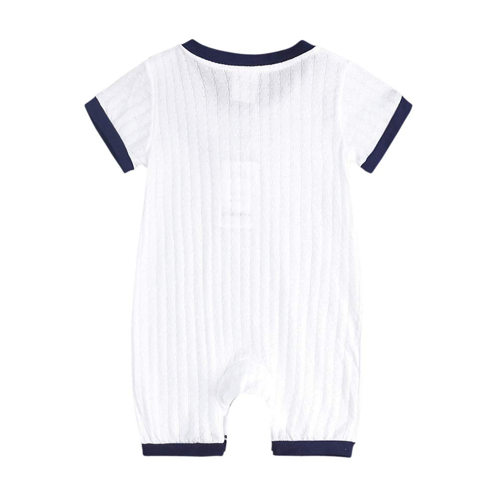 Tortor 1Bacha Baby Boys Cotton Romper Short Sleeve Bodysuit Infant Cute One Piece Jumpsuit Outfits