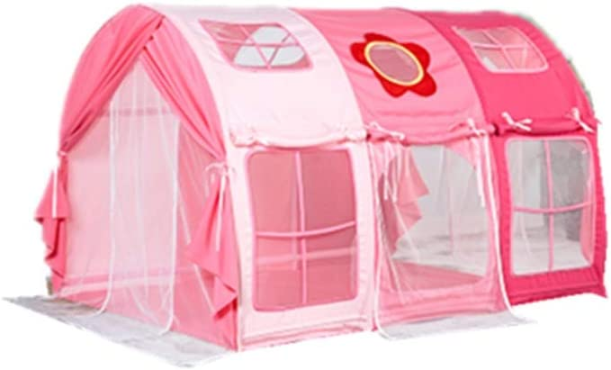 特大子供のテント、ボーイシークレット城着色ベッドテント漫画のパターンビッグハウス風防モスキートテント三色 (Color : A, Size : 140*80*90CM)