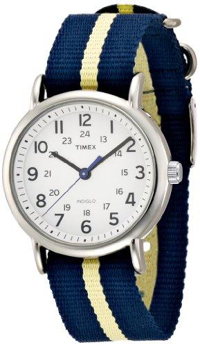 Timex Weekender Slip-Thru Stripled Nylon Strap Unisex Watch T2P142, Watch Central
