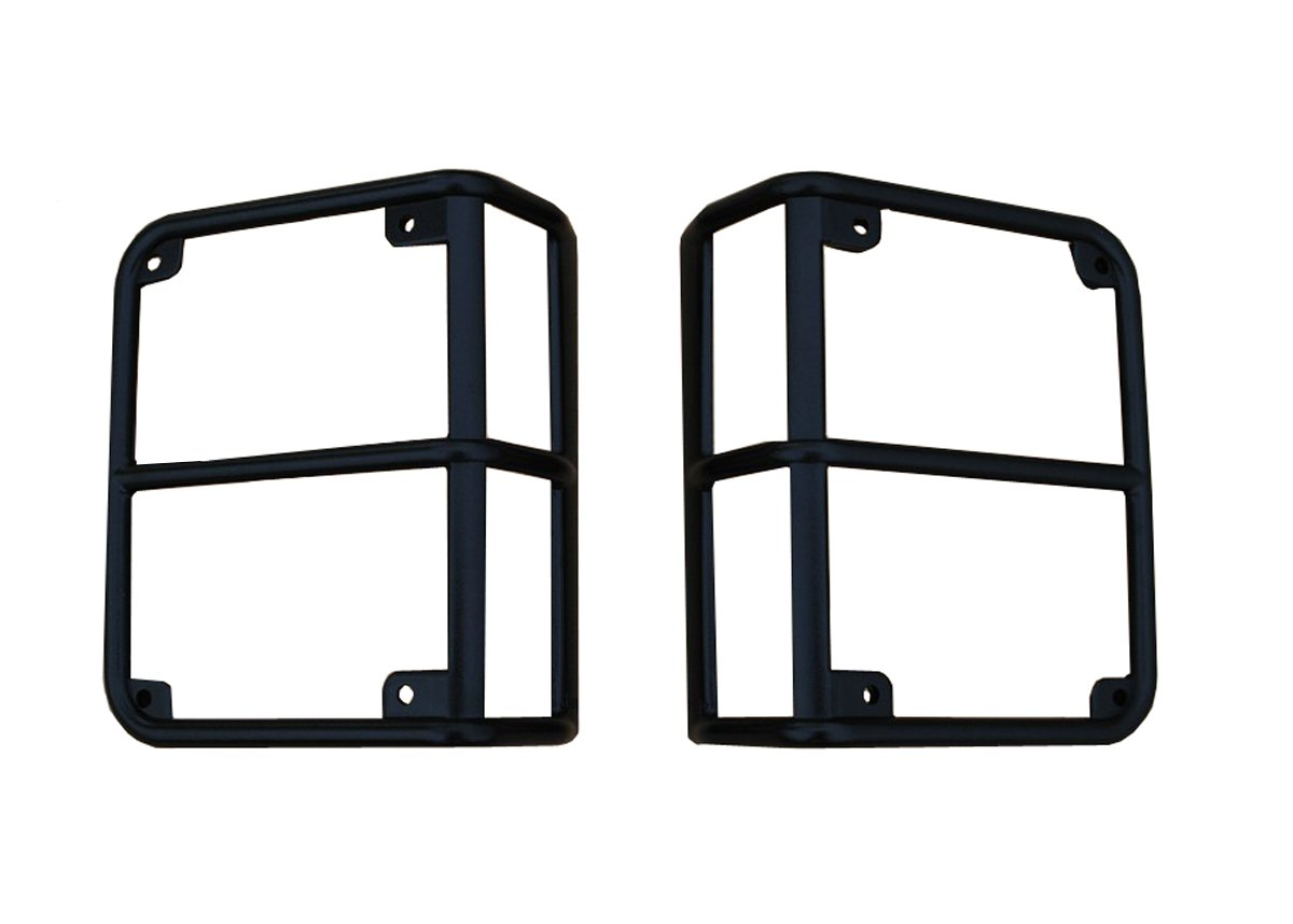 SXMA Taillight Cover Trim Guards Protector,Black Stainless Steel Guard Light Cover Kit for Jeep Wrangler JK JKU Sports Sahara Freedom Rubicon X /& Unlimited 2007-2017 Black Dog Paw logo