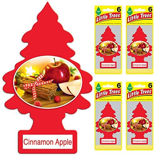 Little Trees auto air freshener, Cinnamon Apple, 6-Packs (4 Count)