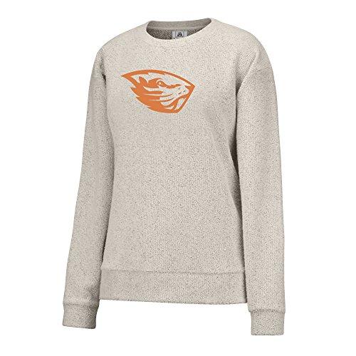 J America NCAA Oregon State Beavers Women's Innovator Crew Sweater, Small, ()