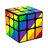 Generic Rubik's Cube Unequal Rubik Cube 3x3 Speed Cube Rainbow Puzzle for Children and Adults