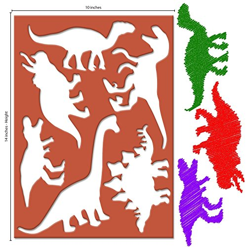 Dinosaur Stencils - Karty Large Dinosaur Stencils for Kids