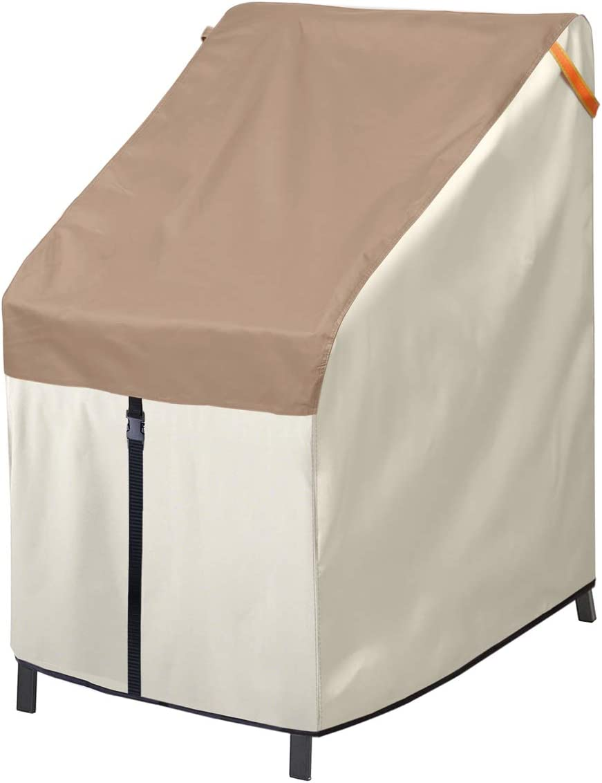 Porch Shield Patio Stackable Chair Covers - Waterproof Outdoor Stack of Chair Cover - 27W x 33D x 46H inch