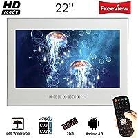 Soulaca 22 inch Frameless Smart Waterproof Magic Mirror Bathroom TV M220FA