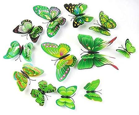 18pcs 3D Butterfly Wall Sticker Art Decal Home Decor PVC Removable Butterflies Decor