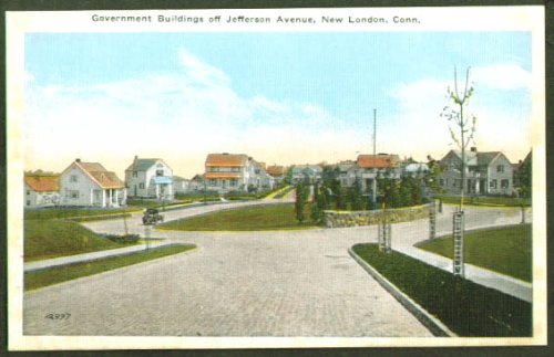 Government Buildings New London CT postcard 1910s from The Jumping Frog