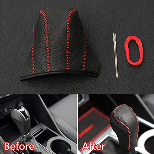 Car Gear Shift Knob PU Leather Cover Protective Car Accessories Styling For Hyundai Tucson 2015 2016 2017 2018