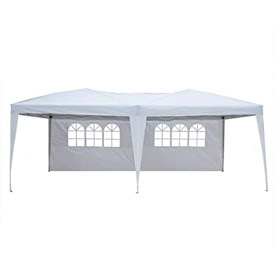 Party Tent 10x20 Heavy Duty Canopy Tent with Removable Sidewalls Outdoor Wedding Tent, 4 Sides : Garden & Outdoor