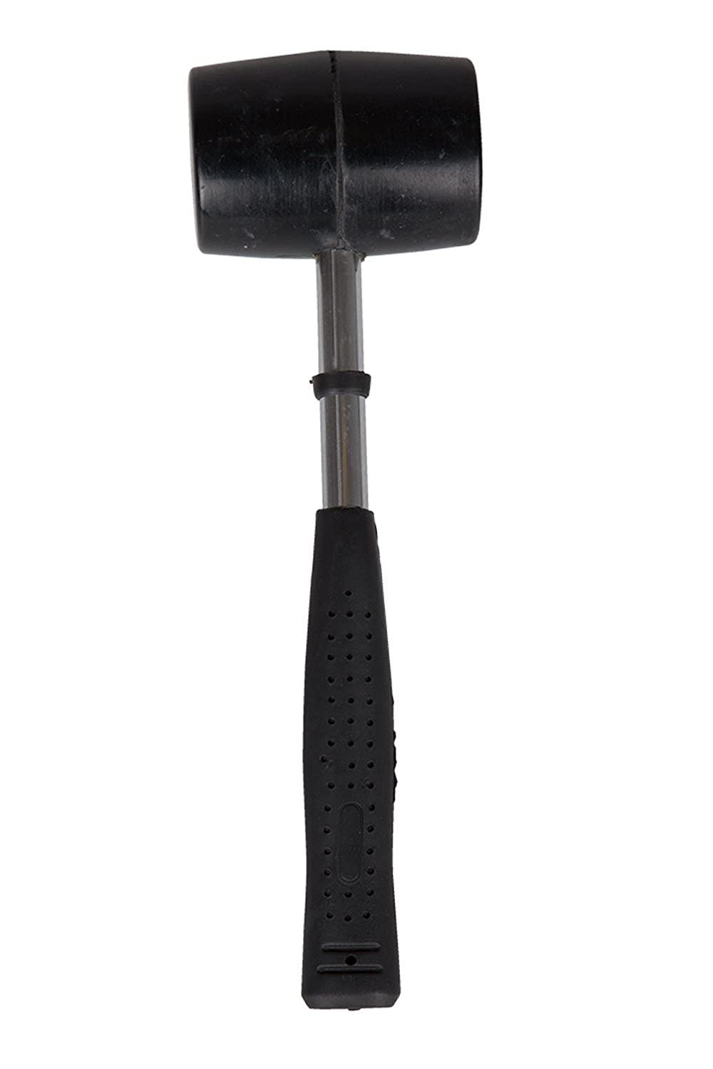 Mountain Warehouse Rubber Mallet - Steel Shaft Hammer, Durable Tool, Secures Tent Pegs in Hard Ground - For Camping, Hiking & Home Use Hiking & Home Use Black