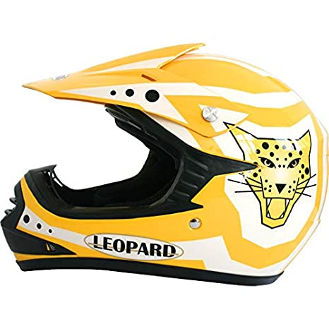 53-54cm Leopard LEO-X17 Children Kids Motocross Dirt Bike Off Road Motorbike Helmet /& Gloves /& Goggles Blue L