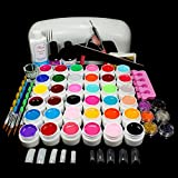 ReNext 9W Dryer Lamp Tube UV Gel Kit Brush Buffer Guides Toe Seperator Glitter Powder Liquid Tools Nail Tips Glue DIY Kit