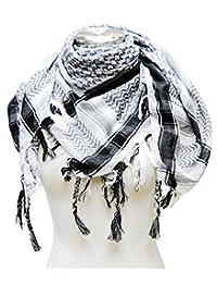 Premium Shemagh Head Neck Scarf - Black/White