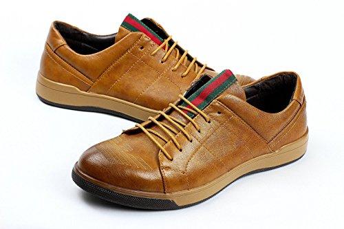 Hombre Zapatos Casual Con Cordones elegante formal trabajo oficina Italiano Moderno Vestido Marrón