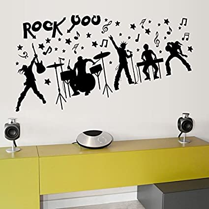 Syga rock music band wall sticker pvc vinyl 61 cm x 5