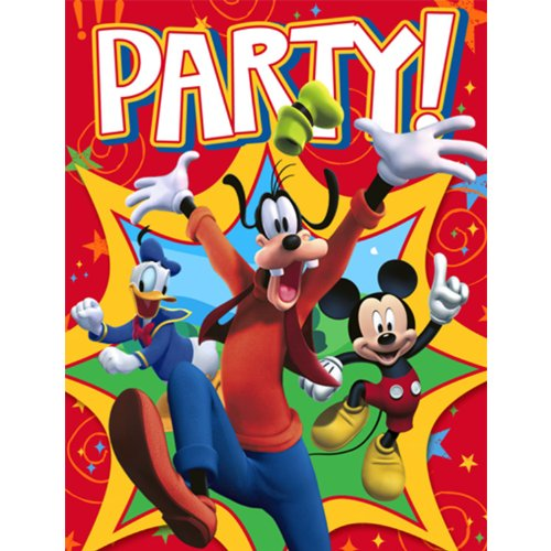 Mickey Mouse Party Invitations - Mickey Invitations - 8 Count