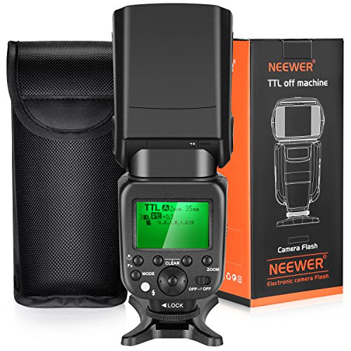 Neewer TTL Flash for Sony HSS 1/8000s GN58 Master Slave Speedlite for Alpha A6000 A6300 A6500 A7 A7R Camera, Integrated 2.4G Wireless (NW630) (Sony A58 Flash)