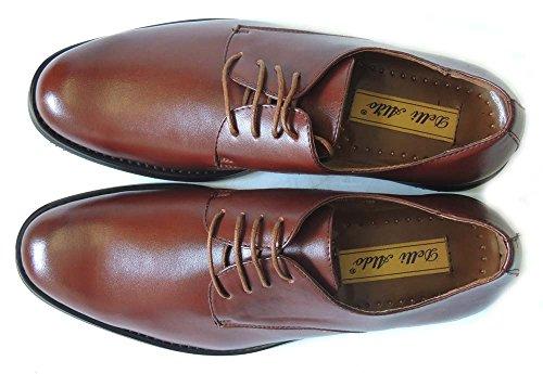 Newdelli Aldo Mens Lace Up Bout Rond Oxfords Cuir Doublé Robe Chaussures-m19170 / Marron