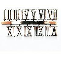 Autoadhesivo dorado plástico romanos reloj Números/números–18mm–Reloj hacer