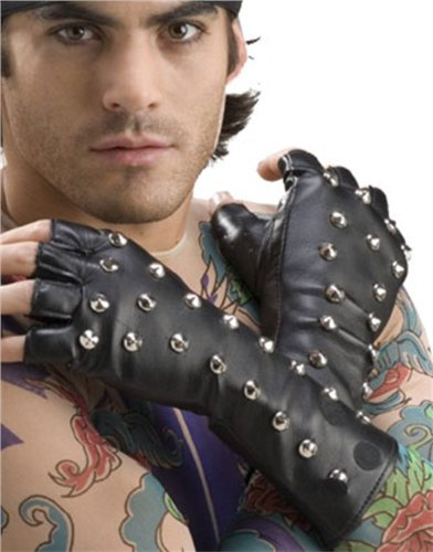 Forum Novelties Studded Fingerless Gloves ()