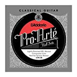 D\'Addario LCN-3B Pro-Arte Lightly Polished Silver Plated Copper on Composite Core Classical Guitar Half Set, Normal Tension