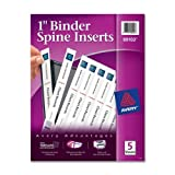 Wholesale CASE of 25 - Avery Binder Spine Inserts-Binder Spine Inserts,1'' Capacity, 40/PK, White