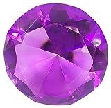 Hongville Fancy Crystal Glass Diamond Paperweight, Purple