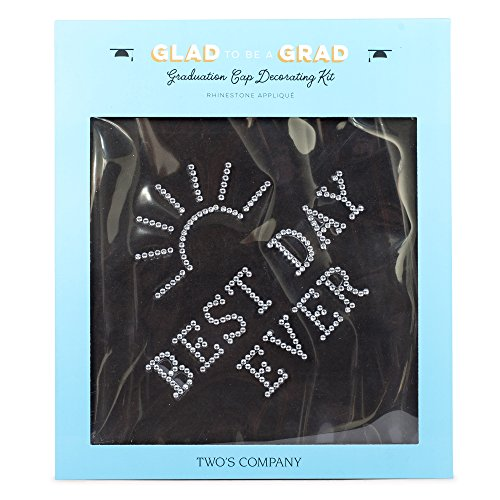Best Day Ever Rhinestone Adhesive Applique Graduation Cap Decorating Kit ()