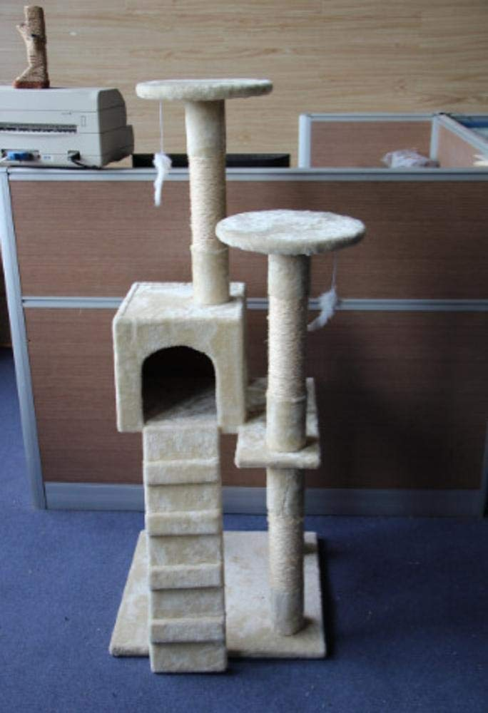 TOUYOUIOPNG Deluxe Multi Level Tree Cat Play Towers Cat Furniture 53 * 53 * 131cm Plush