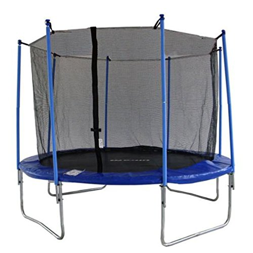 NEW 14ft Trampoline Net Fence Safety Enclosure Round Frame 4Arch 8 Pole Mesh Parts Y