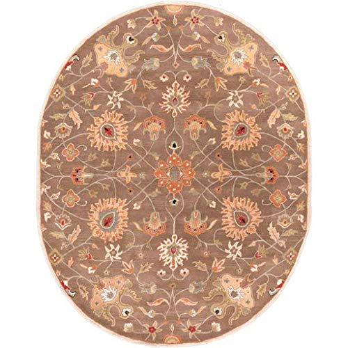 Cheney Traditional Vintage Persian 8' x 10' Oval Oval Traditional 100% Wool Dark Brown/Tan/Rust/Black/Khaki/Camel/Olive/Wood Area Rug ()