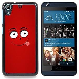 Happy Red Face Caja protectora de pl??stico duro Dise?¡Àado King Case For HTC Desire 626 & 626s