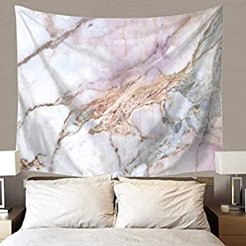 TSDA Marble Tapestry Wall Hanging Gray and Pink Unique Marble Pattern Design Tapestry Decor for Living Room Bedroom Dorm