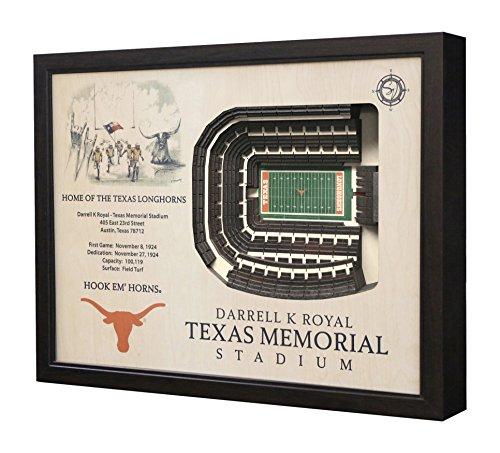 Texas Stadium Replica - YouTheFan NCAA Texas Longhorns 25 Layer StadiumView 3D Wall Art