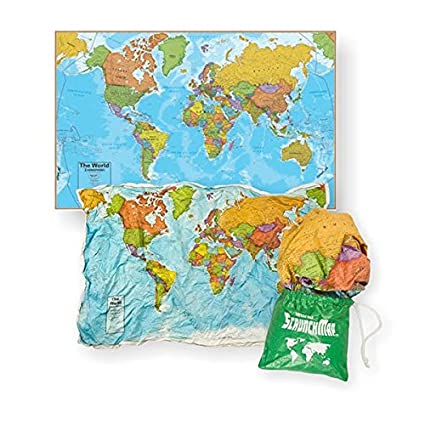 Amazon world scrunch map office products world scrunch map gumiabroncs Image collections