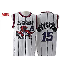 Toronto Raptors - Vince Carter #15 White Retro Jersey for Mens T-shirt